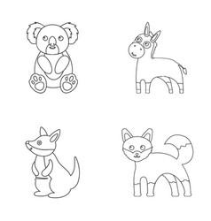 Koala donkey fox kangarooanimal set collection vector