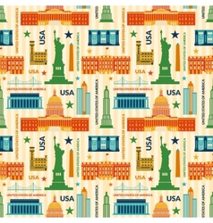 Landmarks of united states of america seamless vector
