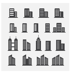 office building icon vector image
