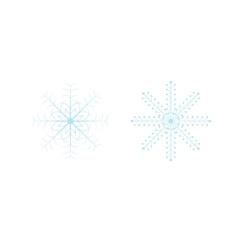 Openwork celebratory christmas snowflakes in vector