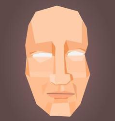 Polygonal face vector image