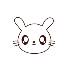 Rabbit kawaii cute animal icon vector