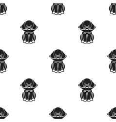 Sick dog icon in black style for web vector