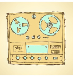 Sketch analog recorder vector
