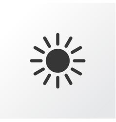 sunny icon symbol premium quality isolated sun vector image