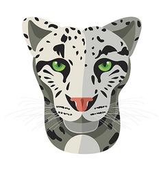 Wild cat irbis leopard snow bars in vector