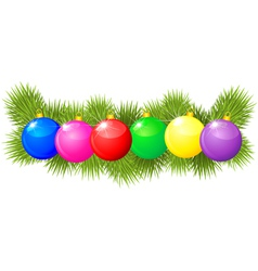 xmas balls garland vector image vector image