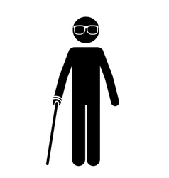 Blind person isolated icon design vector