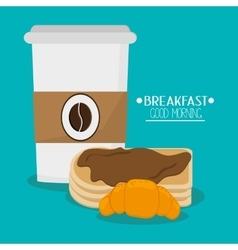 Pancakes and breakfast design vector