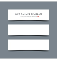 Set of blank white paper banners vector