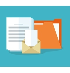 Document pages and envelope icon vector