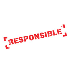 Responsible rubber stamp vector