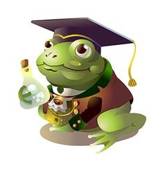 icon frog vector image