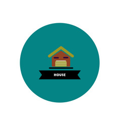 Building house icon vector