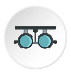 Medical autorefractometer icon circle vector