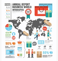 Infographic annual report Business world industry vector image
