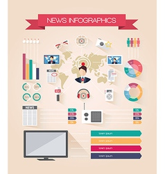 Infographics live news vector