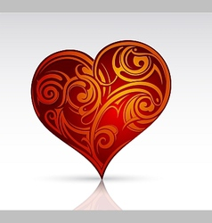 Heart shape ornament as design element vector