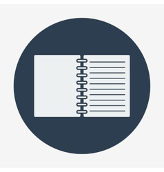 Flat style icon open notebook vector