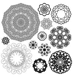 Set of Vintage backgrounds Guilloche ornamental vector image