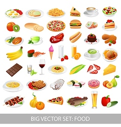 Icons food vector