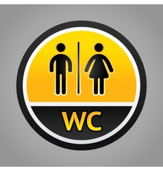 Restroom symbols vector