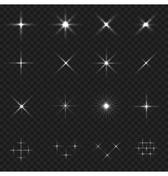 Sparkle icon set vector
