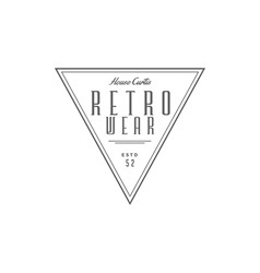 Vintage logo retro wear company vector