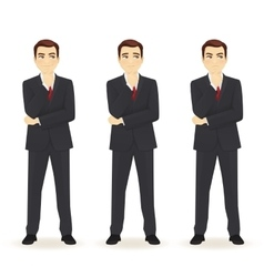 Set of thoughtful business man vector image