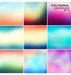 Polygonal backgrounds set vector
