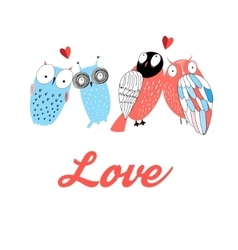 Graphic owl lovers vector
