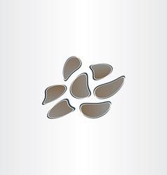 Artificial wall stones design vector