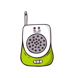 Baby monitor bright children isolated on wh vector