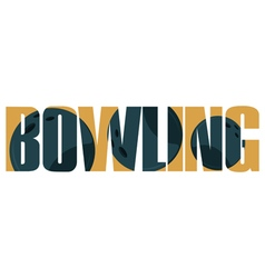 Bowling sign vector image vector image