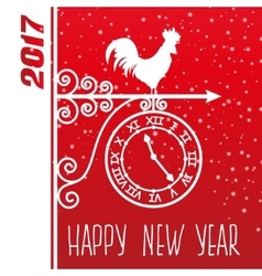 Card new year rooster vector