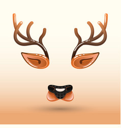 Cartoon muzzle of a deer face vector