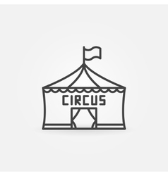 Circus linear icon vector image
