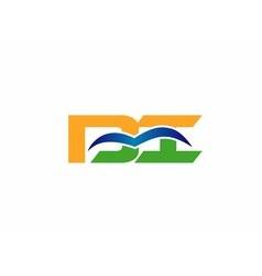 Di company linked letter logo vector