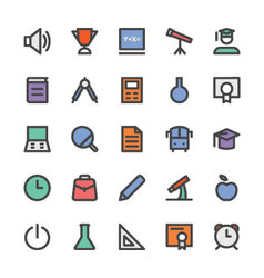 Education black outlined icons 1 vector