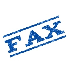 Fax watermark stamp vector