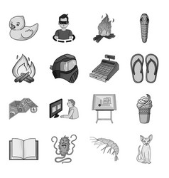 finance illness rest and other web icon in vector image