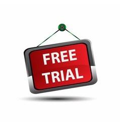 Free trial label icon vector image vector image