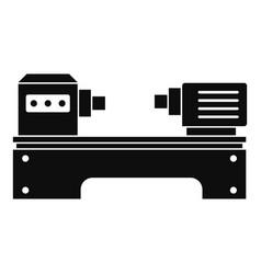 Lathe machine icon simple style vector