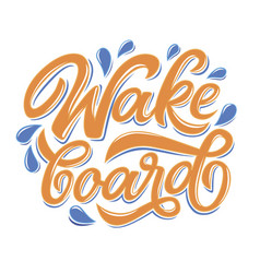 Lettering logo wakeboard club in graffity style vector