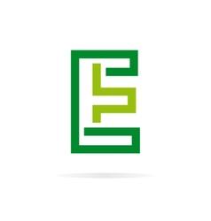 Logo E letter for company design template vector image vector image