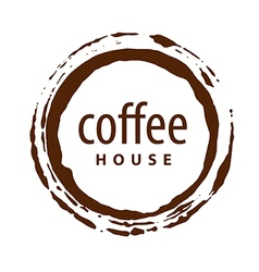 Logo round imprint of coffee vector