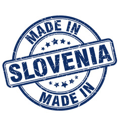 made in slovenia vector image vector image