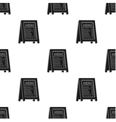 Menu of pizzeria icon in black style isolated on vector