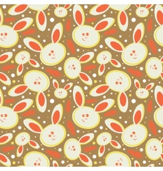 Rabbits abstract seamless background vector
