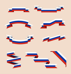 Ribbons or banners in colors of russian flag vector